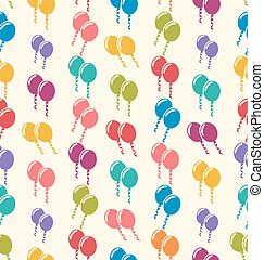 Seamless Pattern Colorful Balloons for Holiday Celebration Events