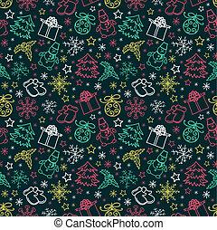 seamless pattern colorful Christmas