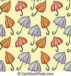 seamless pattern colorful umbrellas