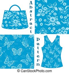 Seamless Pattern, Contour and Silhouette