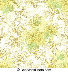 Seamless pattern, contour plants