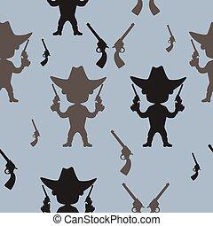 Seamless pattern Cowboy