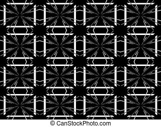 Seamless pattern design with floral background elements, beautiful ornaments, black, white, orange, pink, red, green, yellow, blue, gray, purple