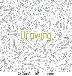 seamless pattern drawing