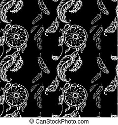 Seamless pattern Dreamcatcher