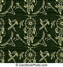 Seamless pattern Dreamcatcher