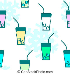 Seamless pattern: drink