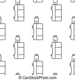 seamless pattern electronic cigarette vaporizer vector
