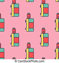 seamless pattern electronic cigarette vaporizer vector
