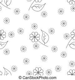 seamless pattern embroidered flowers