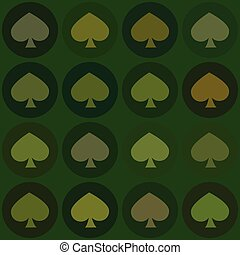 seamless pattern. EPS 10 vector illustration. used for printing, websites, design, interior, fabrics, etc. card spade suit on a green background Christmas
