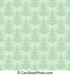 seamless pattern. EPS 10 vector illustration. used for printing, websites, design, ukrasheniayya, interior, fabrics, etc. Christmas theme. tree from snowflakes on a green background