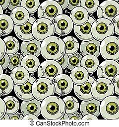 Seamless pattern eyeball - Vector illustration seamless...