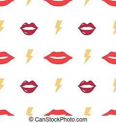 Seamless pattern fashion with lips