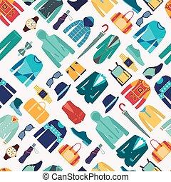 seamless pattern fashionable mens wear background