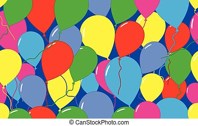 Seamless pattern. Festive pattern with balloons for holidays (birthday, etc.) Vector illustration