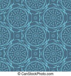 Seamless pattern flower line