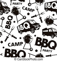 Seamless pattern for barbecue festival