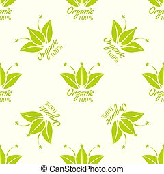 Seamless pattern for eco products paper. Vector illustration.
