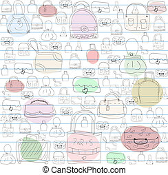 Seamless pattern for ladies handbags.