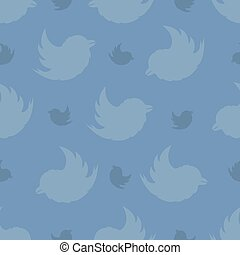 Seamless pattern from birds on a on a on a pastel blue background. The Bullfinch Pattern