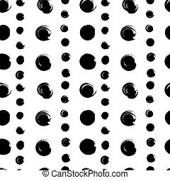 Seamless pattern from black circles