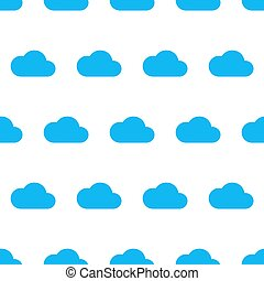 Seamless pattern from blue cloud on white background of vector illustrations