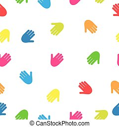 Seamless pattern from hand prints