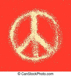 Seamless pattern from Peace sign.
