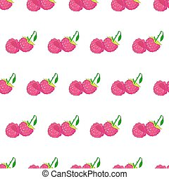 Seamless pattern from raspberries on white background of vector illustrations
