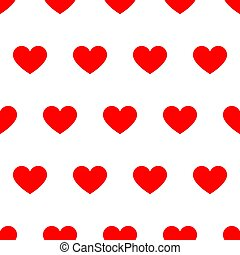 Seamless pattern from red heart on white background of vector illustrations