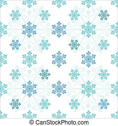Seamless pattern from snowflakes on a white background