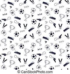 Seamless pattern from sport equipment