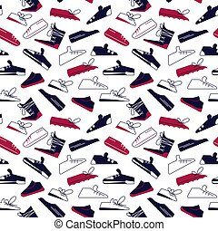 Seamless pattern from sport shoes