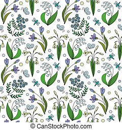 Seamless pattern from spring flowers seamless pattern from hand seamless pattern from spring flowers mightylinksfo