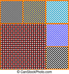 Seamless pattern from squares