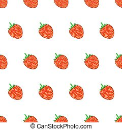 Seamless pattern from strawberry on white background of vector illustrations
