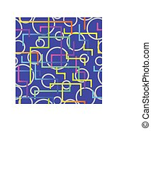 Seamless pattern from the scattered geometrical lines