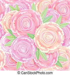 Seamless pattern gentle peonies