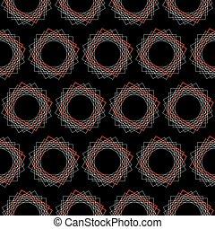 seamless pattern geometry style. vector illustration on black background