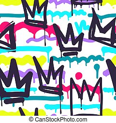Seamless pattern graffiti