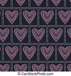 Seamless pattern graphic heart tiles