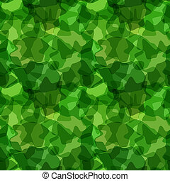 Seamless pattern green camouflage
