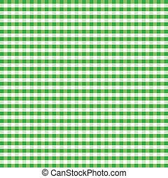 Seamless Pattern, Green Gingham