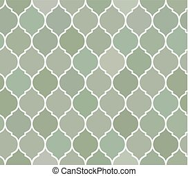 Seamless pattern green tiles