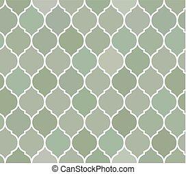 Seamless pattern green tiles