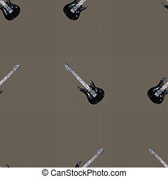 Seamless pattern guitars
