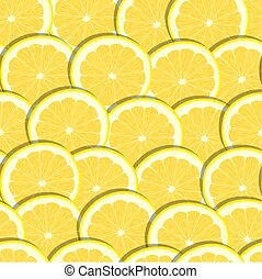 Seamless pattern hand drawing lemon slices