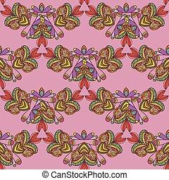 Seamless pattern. Hand drawn seamle