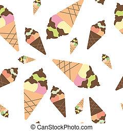 seamless pattern ice cream background